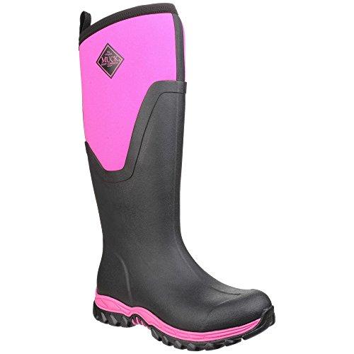 Muck Boots - Arctic Sport - Stivali Wellington alti - Donna Nero/Rosa