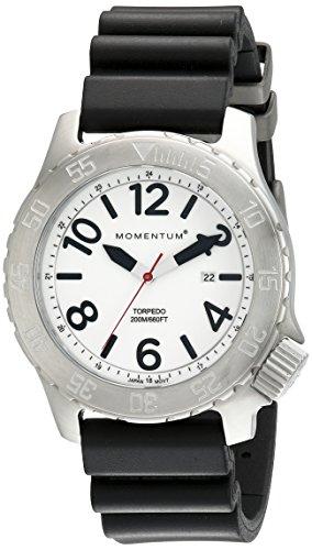 Momentum Men's Analogue Classic Quartz Watch with Rubber Strap 1M-DV74L1B