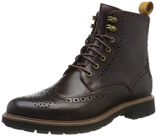 Clarks Herren Batcombe Lord Biker Boots, Braun (Burgundy Wlined Burgundy Wlined), 42 EU