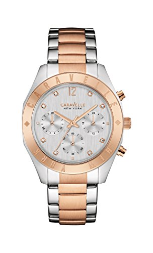 Caravelle New York Women's Quartz Stainless Steel Dress Watch (Model: 45L156)