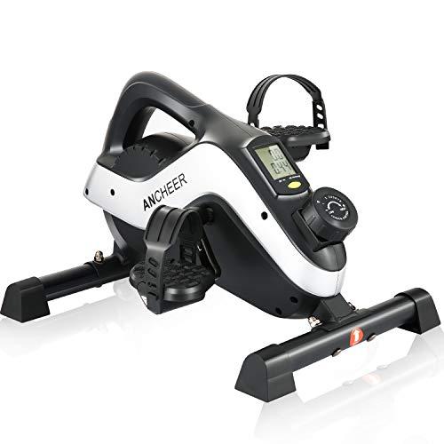 ANCHEER Mini Heimtrainer Arm- und Beintrainer Pedaltrainer, Hometrainer Fahrrad fitnessgeräte sportgerät für zuhause, Schreibtischfahrrad für das Büro, Trainingsgerät für Senioren & Sportler