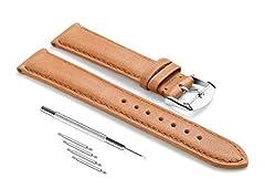 Idea Regalo - CHIMAERA Vitello Vera Pelle Cinturino unisex cucita banda Bordatura 18mm 19mm 20mm 21mm 22mm sostituzione Super Pin fibbia morbido Classic (4 Opzione di colore)