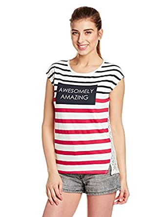Unshackled Women's Body Blouse T-Shirt (US96-White_L)