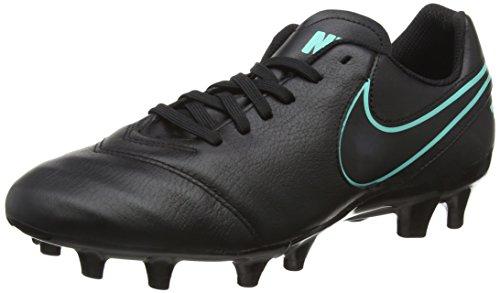 Nike Tiempo Genio Ii Leather Fg, Scarpe da Calcio Uomo Nero (Black/black/hyper Turquoise)