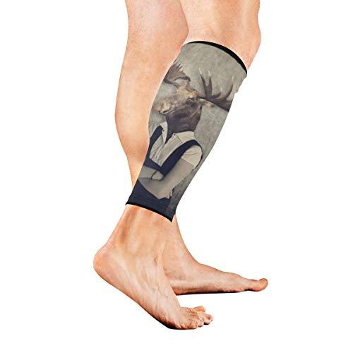 AGIRL Lustige Tiere, die Kleidung tragen Kalb-Kompressions-Hülsen-Bein-Kompressions-Socken für Schienbeinschiene Kalb-Schmerz-Entlastungs-Mann-Frauen und Läufer verbessert Kreislauf-Wiederaufnahme