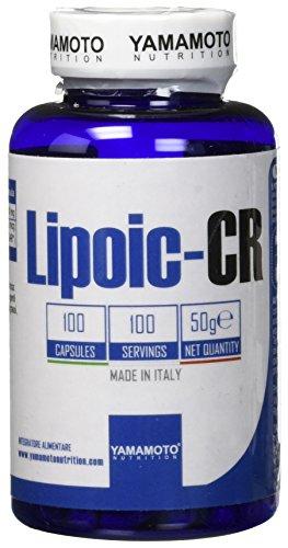 Yamamoto Nutrition Lipoic-CR integratore alimentare che apporta 300mg di Acido Alfa Lipoico (ALA) e 200mcg di Cromo Picolinato 100 compresse