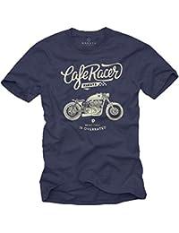 Idée Cadeau Moto - Vintage Cafe Racer - T-Shirt Motard Homme