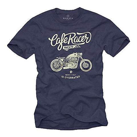 Idée Cadeau Moto - Vintage Cafe Racer Harley - T-Shirt