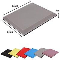 Wyujie Aislamiento acústico de Espuma autoadhesiva Panel de Espuma Evitar el Ruido de Antracita 50 PCS 50X50cm,Gris,Self Adhesive