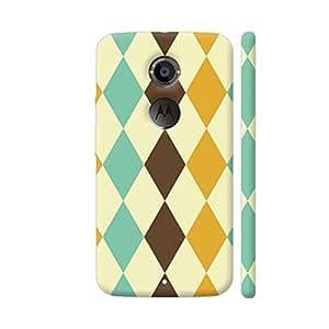 Colorpur Multicolor Rhombus Pattern 2 Artwork On Motorola Moto X2 Cover (Designer Mobile Back Case)   Artist: Designer Chennai