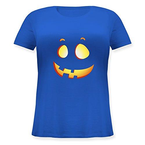 Shirtracer Halloween - Süßer Halloween-Kuerbis Kinder - Lockeres Damen-Shirt in Großen Größen mit Rundhalsausschnitt Blau