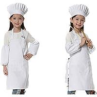 JLySHOP Usura Cappello da Chef da Cucina – Grembiule da Cucina per Bambini  (6 – dccf3f30ab8d