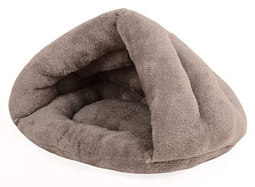 yPet Grey Luxury Pet Iglu-Hamster Chinchilla Meerschweinchen Weiches bequemes Hausbett Iglu Weicher Plüsch PP-Baumwollmatte Hamster Igel Eichhörnchen kleine Tierkatze kann in der (Chinchilla-iglu)