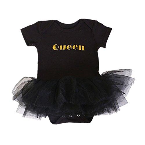 puseky Baby Mädchen (0-24 Monate) Spieler Tutu Kleid Body Kleidung Gr. 6~12 Monate, (Lustig Kleid)