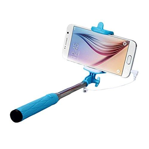 Tefamore Palo Selfie Monopod Portátil Cámara de monopio Stick Selfie para Samsung Galaxy S6 S7 edge Plus (Verde2)