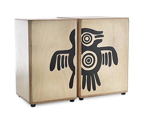 """XDrum Peruana Wooden Bongos Holz-Bongos, Schlagplatten aus Sapeli, Größen: 5"""" und 6"""" Hembra, 21 cm hoch)"""