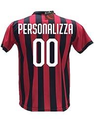 Maglia Calcio Milan Personalizzabile Replica Autorizzata 2018-2019 Bambino (Taglie 2 4 6 8 10 12) Adulto (S M L XL) (6 Anni) (6 Anni)