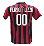 Maglia Calcio Milan Personalizzabile Replica Autorizzata 2017-2018 bambino (taglie 2 4 6 8 10 12) adulto (S M L XL) (6 anni) (10 anni)