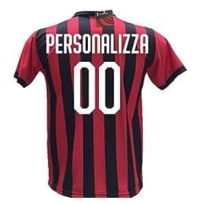 Maglia Calcio Milan Personalizzabile Replica Autorizzata 2017-2018 bambino (taglie 2 4 6 8 10 12) adulto (S M L XL) (6 anni) (8 anni)