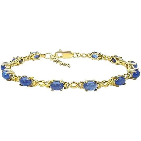 Goldancé - Bracciale da Donna argento sterling 925 placcati in oro vera Tanzanite - B204TAN_SGP
