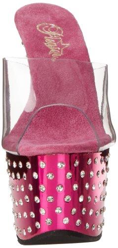 Pleaser - Stardust-701, Sandali Con Tacco da donna Clr/H. Pink Chrome