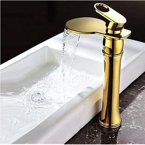 Lujo Titanio grifos grifo mezclador grifo surtidor cascada baño lavar grifos grifos grifo grifo con grifo de latón Manguera