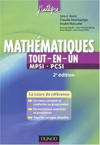 Tout-en-Un Mathématiques MPSI-PCSI