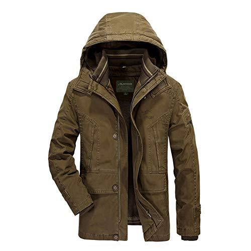 Zyh Männer Jacke Mantel, schlank mit Kapuze Medium und Langen Abschnitt Mantel verdickt Sport Outdoor Mantel Winter warme Daunenjacke (Farbe : B, Größe : M)