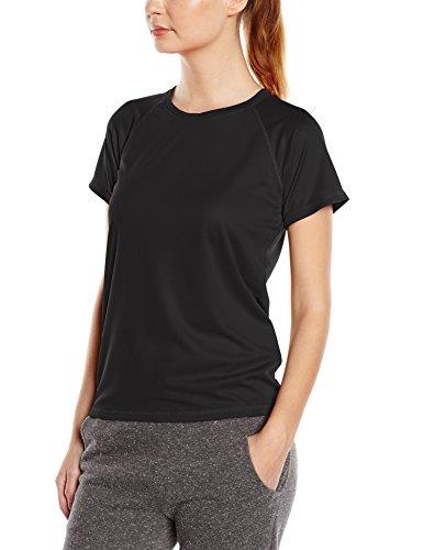 Stedman Apparel Damen Sport T-Shirt Active 140 Raglan/st8500, Schwarz (Black Opal), Small