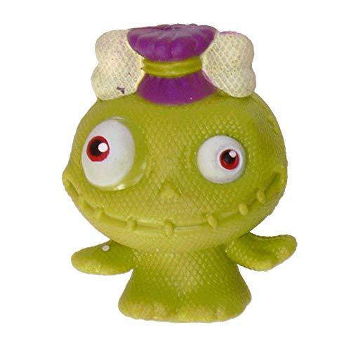 Mini Monster Stressball in grün mit Knochen im Haar - Baby Monster Antistressball Knautschball Knetball