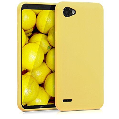 kwmobile LG Q6 / Q6+ Hülle - Handyhülle für LG Q6 / Q6+ - Handy Case in Gelb matt