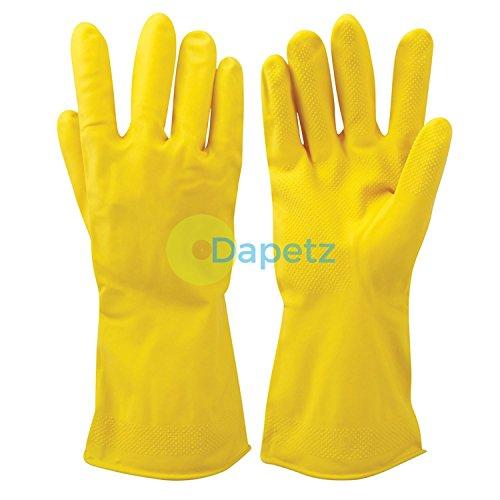 daptezr-1x-gelb-reinigung-latex-handschuhe-texturierte-griff-flock-gefuttert-auto-waschen-haushalt