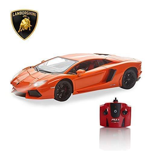 CMJ RC Cars Offiziell Lizenziert Fernbedienung Lamborghini in 30CM Größe 1:14 Im Lambo Orange