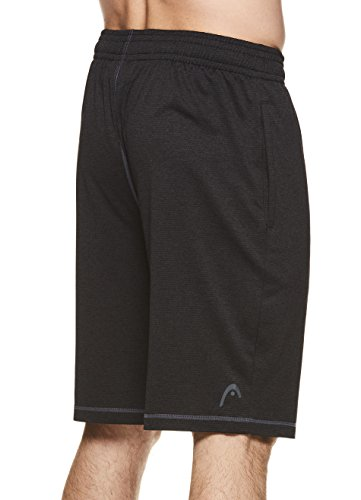 HEAD-Mens-Vault-Heather-Workout-Gym-Running-Shorts-wElastic-Waistband-Drawstring