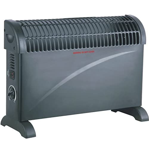 41EK1635wqL. SS500  - 2kW Home & Office Convector Radiator Heater (Wall Mounted or Floor Standing) (Black)