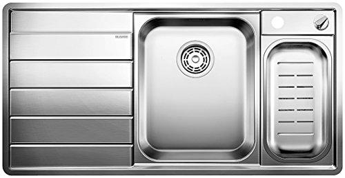 Blanco AXIS II 6 S-IF, Küchenspüle, Edelstahl Seidenglanz, Becken rechts, 1 Stück, 516529