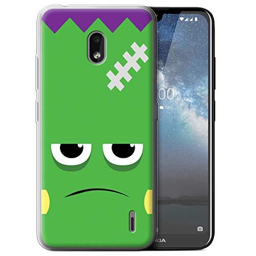 eSwish Gel TPU Hülle/Case für Nokia 2.2 2019 / Frankenstein Muster/Halloween Zeichen Kollektion (Frank Halloween 2019)