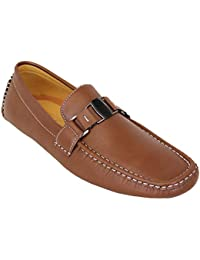 2f807d865f2ee Mens Moccasins Leather Look Shoes Driving Loafers Slip On Boat Wedding  Formal
