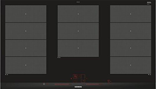 Siemens EX975LXC1E Piano di cottura a induzione nero, acciaio inox (incasso, induzione, ceramica, nero, acciaio inossidabile, touch, frontale)