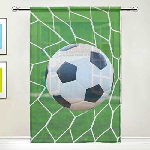 CPYang Vorhang mit Ballnetz, für Wohnzimmer, Schlafzimmer, Tür, Küche, 139,7 x 198 cm, 1 Paneel, Textil, Multi, 55 x 78 inch