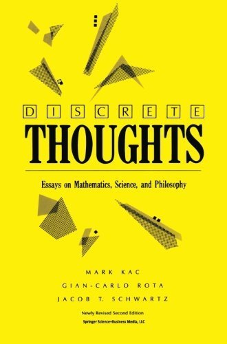 Discrete Thoughts: Essays on Mathematics, Science and Philosophy by Mark Kac (1993-06-01)