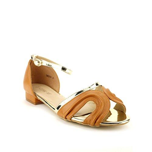 Cendriyon Sandale Caramel CAROALA Chaussures Femme Caramel