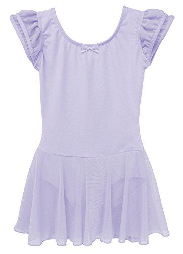 zarm Ballettkleid aus Baumwolle mit Flügelärmeln 104/110 Flieder (Rabatt-kostüme Für Kinder)