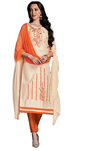 Shree Ganesh Retail Womens Cotton With Embroidery Churidar Material   Salwar Suit...