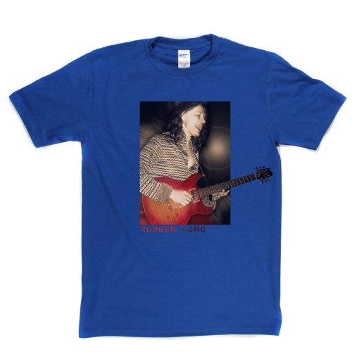Robben Ford American Blues Jazz Rock Guitarist Musician T-shirt Königsblau
