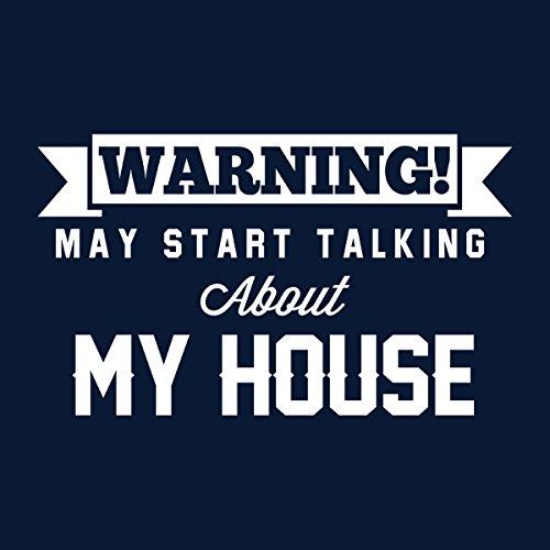 Warning May Start Talking About My House Men's Hooded Sweatshirt Navy blue