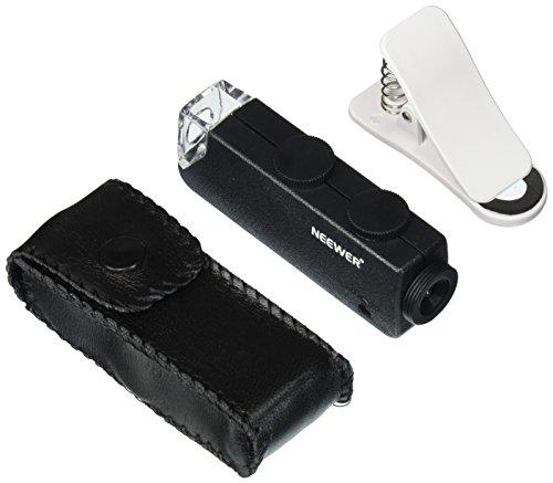 Neewer® 60X-100X Optischer Zoom Handy LED Mikroskop-Objektiv mit Universalklemme für iPhone6   6plus / 5 5c 5s / 4 4s / Samsung Galaxy S5 G900H / S4 i9500 / i9300 S3 / Note 2 II / Anmerkung 3 III / Anmerkung 4 IV / HTC