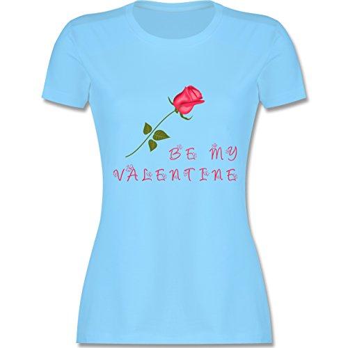 Valentinstag - Be my Valentine Rose Liebe - tailliertes Premium T-Shirt mit  Rundhalsausschnitt für
