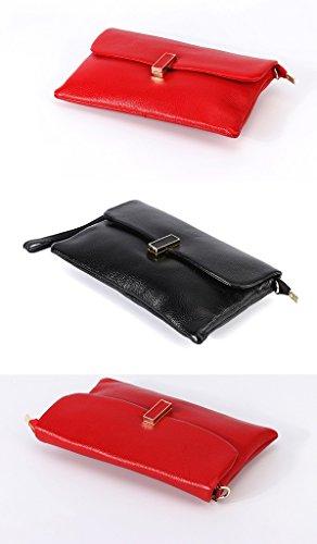 TaoMi Homw- Handtaschen-Mädchen-neue weibliche Handtaschen-Art- und Weisetendenz-Handgelenk-Kurier-Beutel Rot