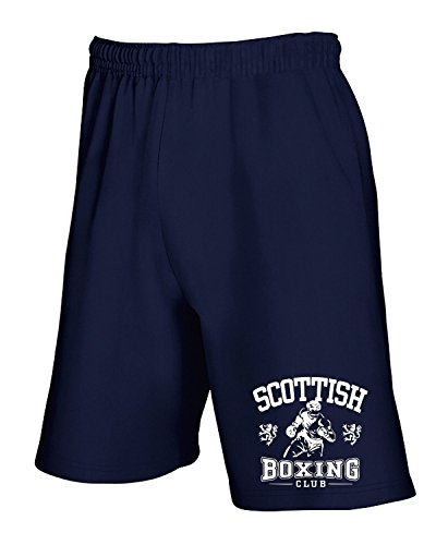 Cotton Island - Pantalone Tuta Corto TBOXE0060 scottish boxing light Blu Navy